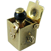 SOLD Vintage 14K Gold Jack-In-The-Box Mechanical Charm