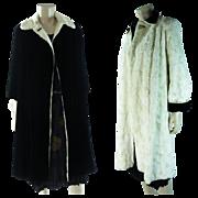 SOLD Vintage 1930's Reversible Silk Velvet & Faux Fur Coat