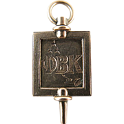 Vintage 14K Gold Phi Beta Kappa Texas Fraternal Watch Key / Fob dated 1916