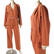 1980's Vintage Issey Miyake Spice Wool Two-Piece Suit