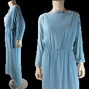 Vintage 1970's Bill Blass Dolman Sleeve Goddess Dress