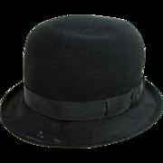 Delightful Antique Child's Elk Brand Felt Derby / Bowler Hat With Oklahoma City Label