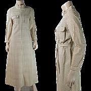 Vintage 1970's Vuokko Polka Dot Front-Zipper Belted Shirt Dress