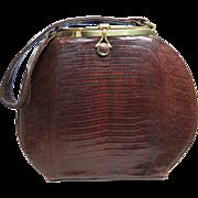 1950's Vintage Round Profile Lizard Handbag