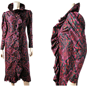1970's Vintage Givenchy Silk Taffeta Dress