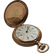 Antique Waltham Ladies' Model 1891 Size 0 Hunter Case Pocket Watch In Good Running Condition