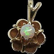 Charming Vintage 14K Gold Opal Pendant