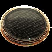 Antique 1860's Victorian 14K Gold Hair Memorial Brooch