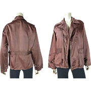 1940's Vintage Belted Back Rayon Gabardine Men's Jacket