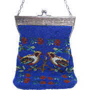 1920's Beaded Purse With Birds