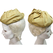 Stylish Vintage Sally Victor Mid-Century Turban Hat