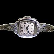 1950's Vintage 14K And Diamond Hamilton Wristwatch - Runs Well