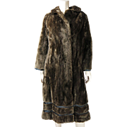 Vintage Sheared Mink Coat With Leather Detail From Woodward And Lothrop, Washington D.C.
