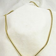 """Vintage Black Enamel and Gold Tone Pendant with 32"""" Snake Chain"""