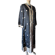 Exotic Asian Influence Black and Gold Coat and Dress by Minolta Custom Tailors Kowloon Hong ..