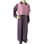 SALE Asian Korean Ceremonial Gown and Vest in Eggplant and Dusty Rose