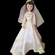 SALE Mid-Century Vinyl Doll Miss Revlon Style in Bridal Gown