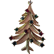 SALE Christmas Tree Brooch Pin Crown Trifari Booked
