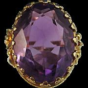 SALE Fabulous 15.28 Amethyst Antique Victorian Ring 18K