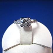 SALE Dazzling .60 VS2 Diamond Art Deco Ring Platinum