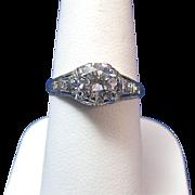 SALE Fabulous 1.02 Diamond Edwardian Vintage Ring Platinum