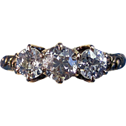 SALE Lovely .64 Edwardian 3 Stone Diamond Antique Ring 14K
