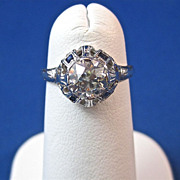 SALE Incredible .84 Carat Engagement/Right Hand Diamond Art Deco Ring 18K