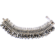 SOLD Antique Rajasthani Silver Anklet, c1910