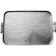 SOLD Arthur Armour Flying Geese Tray, c1950
