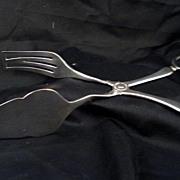 SALE Sheffield Scissors Tongs Silver Plate