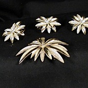 A Pair and a Spare. Sarah Cov. Brooch and Clip on Earrings.