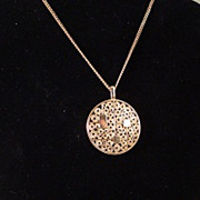 Goldtone Sarah Coventry Pendant on Chain