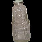 Pre 1950's Grapette CLEAR Drink Bottle - Clown