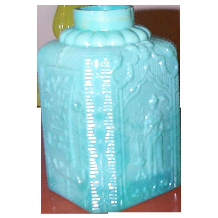C.1860 Molded Opaline Russian Tea Caddy - Rare - Documented