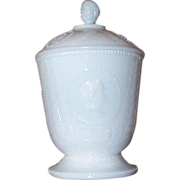 EAPG Ceres (Goddess of Liberty) Figural Covered Sugar Bowl C 1870's