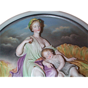 Rare  Volkstedt  Hi Relief Porcelain Bisque Figural Plaque - C 1895  Please see T289 and T249
