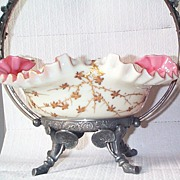 SOLD Webb's Jules Barbe Decorated Brides Bowl - Just Out of this World