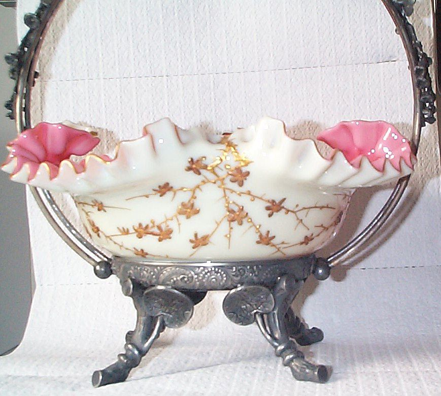 Webb's Jules Barbe Decorated Brides Bowl - Just Out of this World