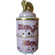 Volkstedt Incense Burner by Beyer & Bock  - Oriental in Style with Foo Dog