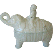 Antique Opaline Vallerysthal Elephant Rider - Late 1880's or before