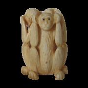 Carved Monkeys - See, Speak, Hear no  Evil