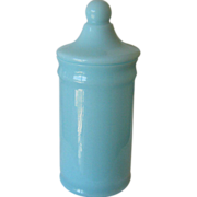 Portieux or European Covered Jar for Fruit Preserve - Blue Opaline