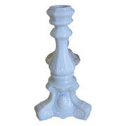 EAPG Scroll and Cross Candlestick - Fostoria & U.S. Glass - Opaque White