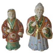 SALE Signed Japanese Statues of Jo and Uba - Keepers of the Pine Trees- Moriage
