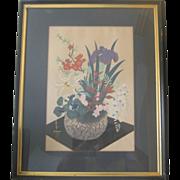 Japanese Woodblock Print by Bakufo Ohno - 1950's