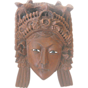 Rosewood Carved Chinese Mask of an Empress