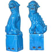 Pair Tall Chinese Foo Dogs - Early 1950's