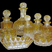 SALE Gorgeous 15 Pieces Val St. Lambert Vanity Set  - C 1900