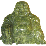 SALE Large Hardstone Carving of  Buddha - Beautiful Coloring