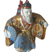 Kutani Statue/Figurine of a NOH Dancer - Showa Period